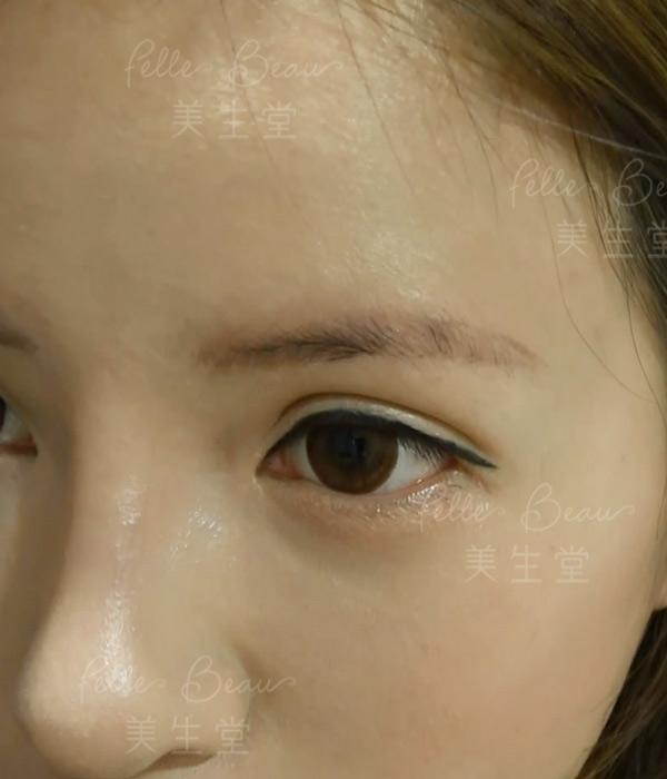 模特兒Leanna 劉沁洗完第一次眉之後效果