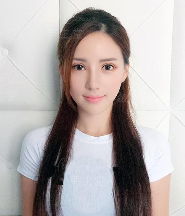 模特兒Leanna 劉沁重做日式細眉後7天