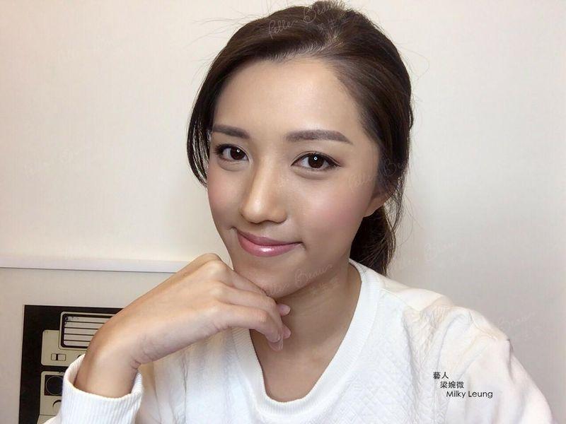 Model Milky Leung 梁婉微 明星立體粉黛眉第二天