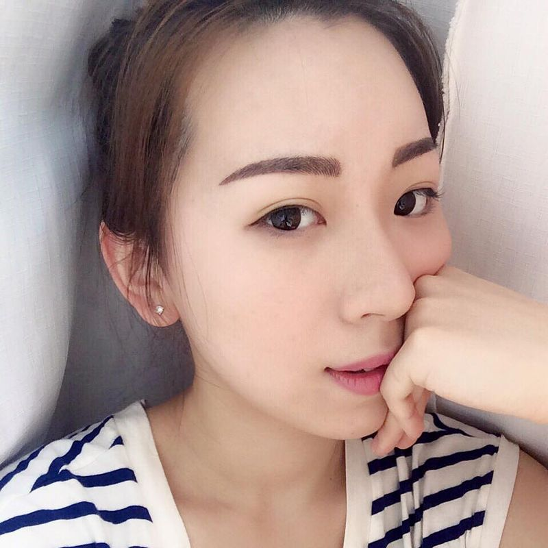 Model Stella Yeung Korean 3D Micro-blading Eyebrow 2nd Day